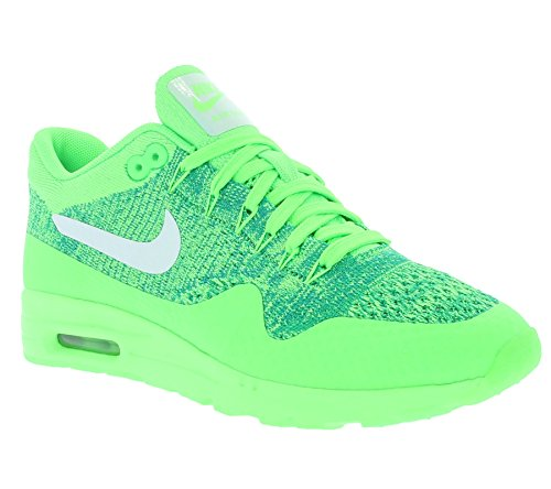 Nike Womens Air Max 1 Ultra Flyknit Running Trainers 843387 Sneakers Shoes (US 6.5, voltage green white lucid green 301)