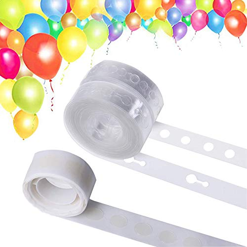 - Balloon Decorating Strip for Arch Garland Streamer, Double Hole Balloon Garland Kit Decorating Strip Tape for Birthday Party Halloween Christmas Wedding
