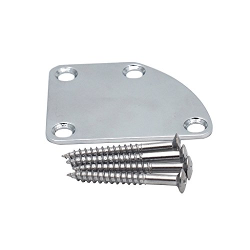 Metal Electric Guitar Neck Mounting Plate With Scrws For