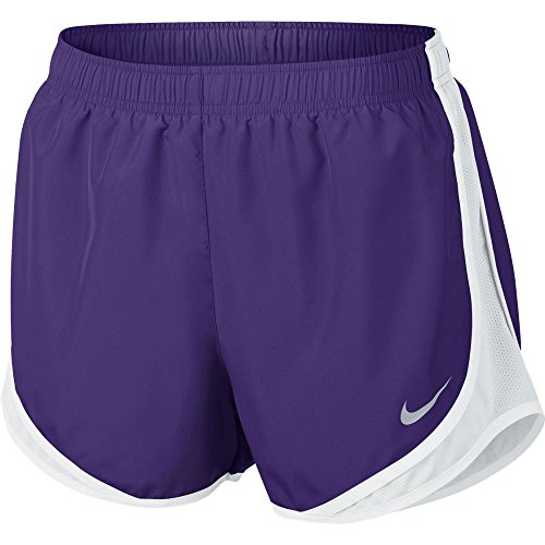 Pantaloncino Colorblock Nike Womens Wet Wicking Viola / Bianco / Bianco / Grigio Lupo