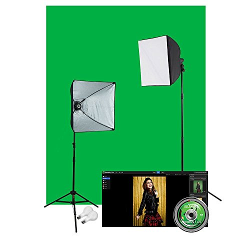 Westcott 401N uLite Green Screen Photo Lighting Kit (Lighting Photoflood Studio Kit)