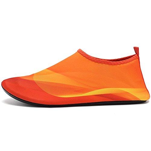 Giotto Barfuß Quick-Dry Frauen Männer Kinder Wassersport Schuhe Haut Aqua Socken für Schwimmen Beach Pool Surf Yoga D-Orange