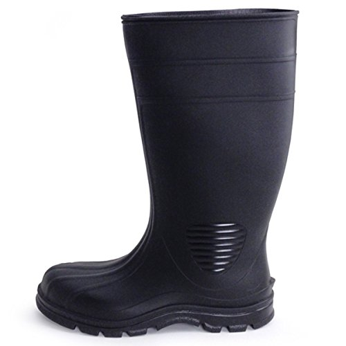 UltraSource 444106-9 Economy PVC Boots, Black, Steel Toe, Si