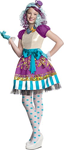 Childs Girl's Cute Ever After High Madeline Hatter Dress Costume Medium 8-10 (Madeline Costume For Adults)