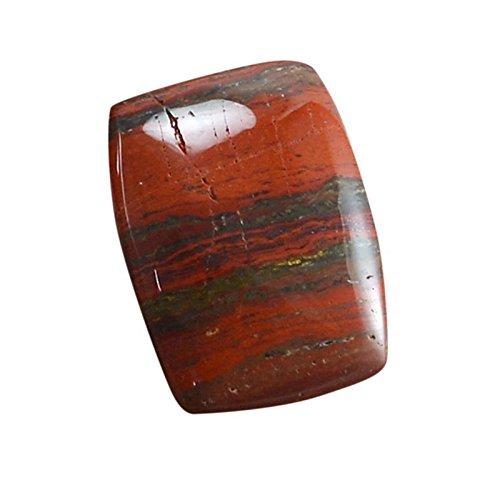 divineimpex 16.75 CTSレッドBrecciated Jasper長方形Cabochon Loose宝石pg-140560   B07799W91N