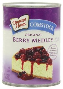 Berry Pie Filling - Duncan Hines, Wilderness/Comstock, Original Berry Medley Pie Filling & Topping, 22oz Can (Pack of 2)
