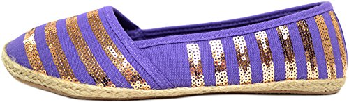 Ladies / Womens Summer / Holiday / Beach Shoes / Sandals / Espadrilles Purple wORydtrv