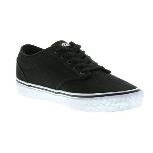 Black White Spectator Shoes - Vans VTUY187 Men's Atwood (Canvas) Skate Shoes, Black/White, 10 D(M) US