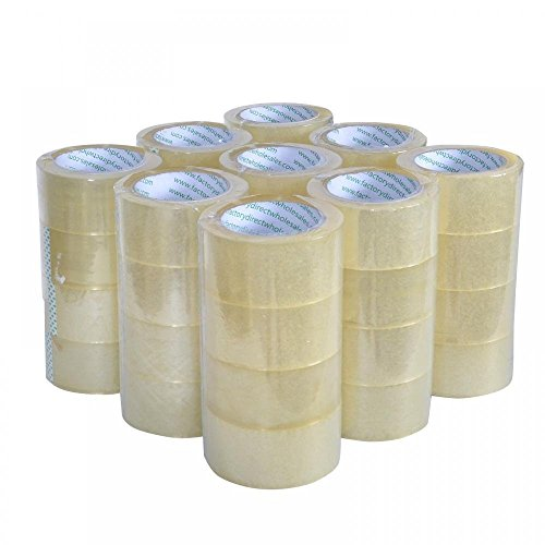 Heavy Duty Sealing Pack Sealing Clear Packing/Shipping/Box Tape, 12 Rolls Carton by Heavy Duty Sealing Pack