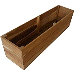 "Teak Wood Flower Planter Window Box garden 36 inch x 6""x 5"" stainless hardware"