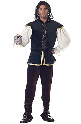 [California Costumes Men's Tavern Man Costume, Green/Brown, Medium] (Medieval Shirt Adult Costumes)
