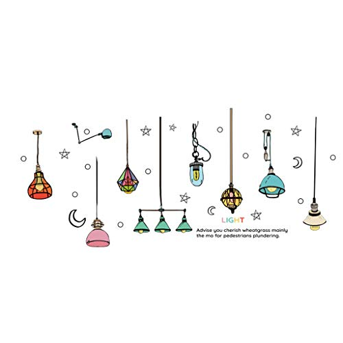 9 Light Chandelier Monarch - uaswguDFS Colorful Chandelier Wall Sticker - Removable Mural, Vinyl Decal Art Sticker, Decor for Kids Bedroom or Birthday Gift, Beautiful Wall Decals for Any Room School