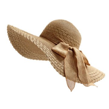 Straw Sun Hat Wide Large Brim Beach Floppy Oversize Fold Cap Hat (brown) 5c147a74026