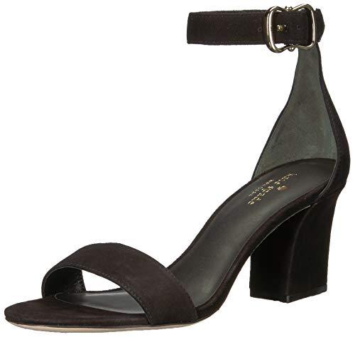 Kate Spade New York Women's Susane Heeled Sandal, Black Kid Suede, 7.5 M US