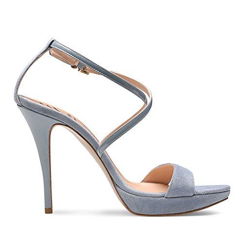 Shoes Sandales Clair Evita Valeria Cuirs Bleu Femme 2 qEwSdwU