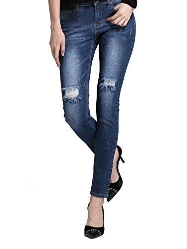 Normale Vita Marie Jeans Blu Annata Skinny Stretch Donna Alice Elmer amp; qFxwtWRI