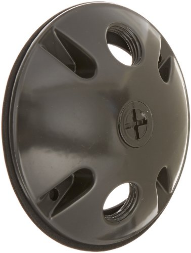 RAB Lighting C103A Die Cast Aluminum Weatherproof Round Cover with 3 Holes, 4-1/2