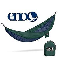 ENO - Hamaca DoubleNest Outfitters de Eagles Nest Outfitters, hamaca portátil para dos, azul marino /forestal