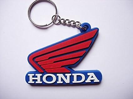 Llavero Honda, automovilismo, motociclismo, coches, motos, llavero, caucho, también ideal para bolsos, carteras o maletines, para regalo, color azul y ...