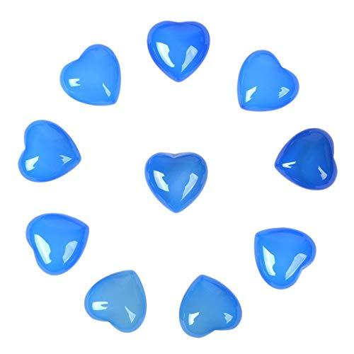 Mini Pocket Stone - Blue Agate Gemstone Healing Crystal 0.8