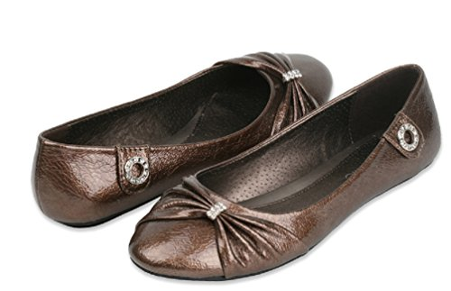 Brand New Womens Fashion Bow Ballet Flats Available In 2 Styles Brown WkcreoR