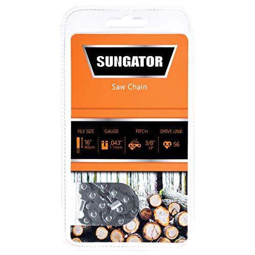Gauge Semi Chisel - SUNGATOR 16-Inch Chainsaw Chain SG-R56, 3/8
