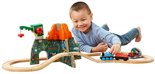 Fisher-Price Thomas & Friends Wooden Railway Set, Volcano Park Deluxe - Deluxe Thomas Set