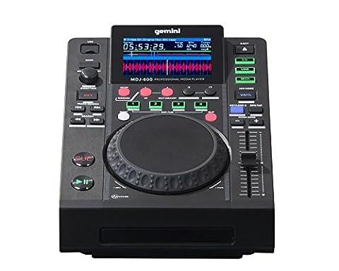 Gemini MDJ Series MDJ-600 Professional Audio DJ Media Player with 4.3-Inch Full Color Display Screen, 5