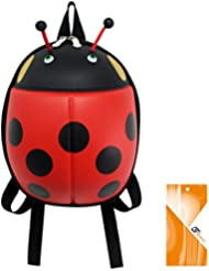 Children Toddler Kids Backpack 3D Cute Zoo Animal Cartoon Pre School Backpack (Ladybug Red)