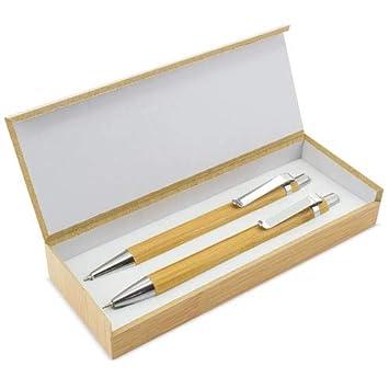 Lote 25 Sets de Boligrafos + Portaminas Bambú, presentados en ...