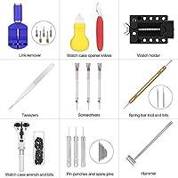 Kaisi Reloj de reparación de herramientas, kit relojero destornillador herramienta Profesional de reparación de relojes s Barra de Resorte Pin Link Removedor conjunto: Amazon.es: Bricolaje y herramientas
