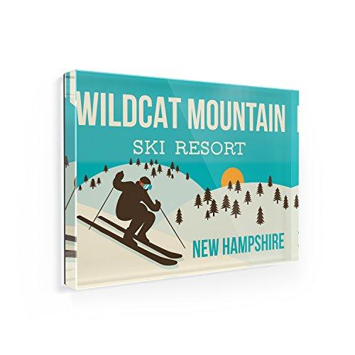 Fridge Magnet Wildcat Mountain Ski Resort - New Hampshire Ski Resort - NEONBLOND (Wildcat Ski)