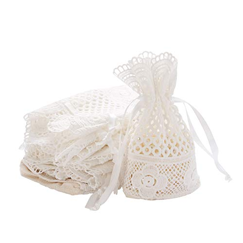 Lace Favor Bags - 5.5x3.7 Inches Wedding Favor Gift Bags