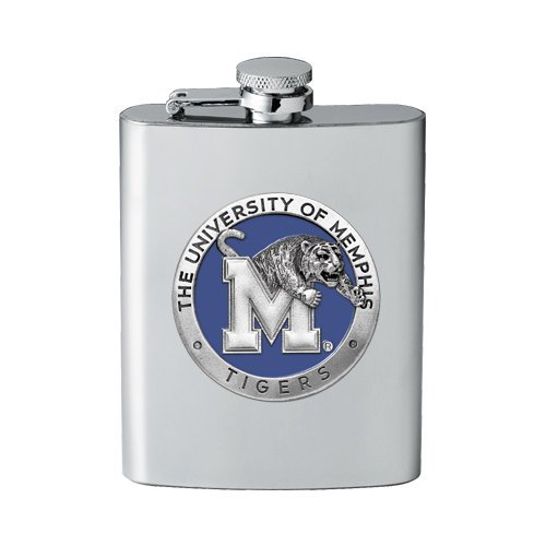 (1pc, Pewter Memphis Tigers Flask)