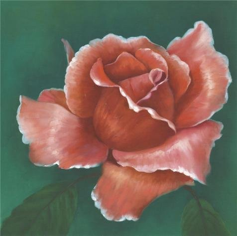 Oil Painting 'Red Rose', 24 x 24 inch / 61 x 61 cm , on High Definition HD canvas prints is for Gifts And Dining Room, Home Theater And Powder Room Decoration, (Restoration Theatre Costumes)
