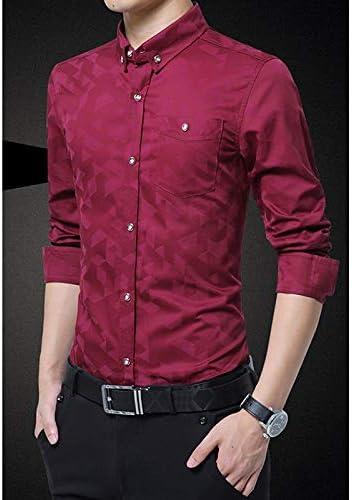 IYFBXl Camisa de Hombre - Estampado de Colores sólidos/geométricos, Vino, XXL: Amazon.es: Deportes y aire libre