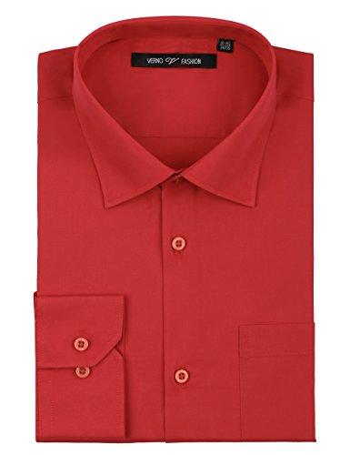Verno Luxton MensRegular Fit Long Sleeve Dress Shirt, 19-19 1/2