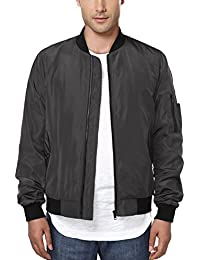 Men's Casual Sportswear Lightweight Baseball Bomber Jacket