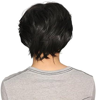 Jocestyle Mens Boys Cosplay Party Short Wig Black