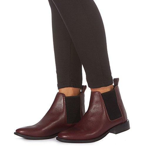 Red Womens 'Binky' Debenhams Dark Chelsea Faith Leather Boots Cqtx8wRFn