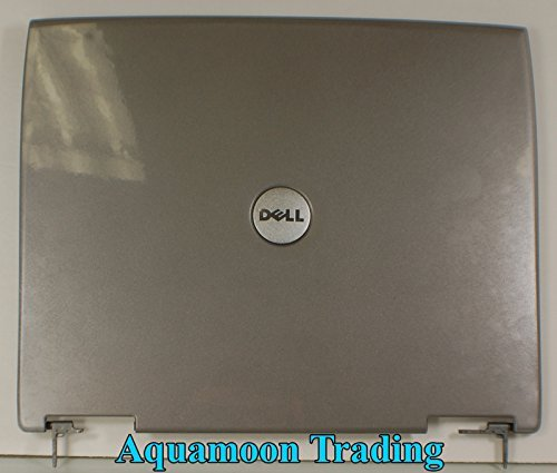 NEW Genuine OEM DELL Latitude D600 Laptop LCD Back Lid Top Rear Cover Hinges 8m669 Monitor Panel Assembly silver gray