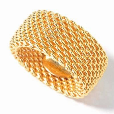 Ring Flexible Sterling Mesh Silver - 10MM (3/8in)