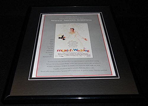 Muriel's Wedding 1995 Framed 11x14 ORIGINAL Advertisement Toni Collette