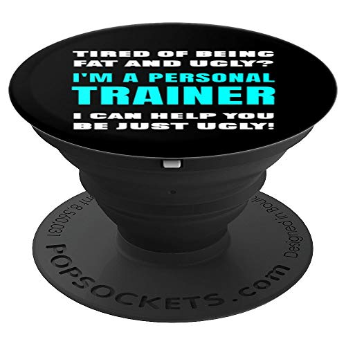 Funny Sarcastic Qualified Certified Personal Trainer Joke - PopSockets Grip and Stand for Phones and Tablets (Best Tablet For Personal Trainers)