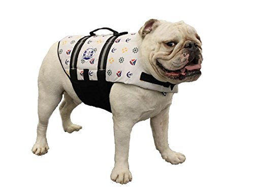 Image of Paws Aboard Fido Pet Products Doggy Life Jacket, Medium, Nautical Dog