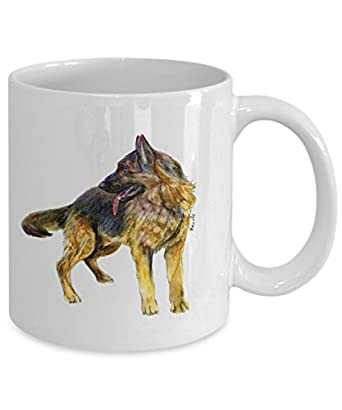 German Shepherd Dog Mug - Style No.4 - Cool Ceramic Alsatian Coffee Cup (11oz)