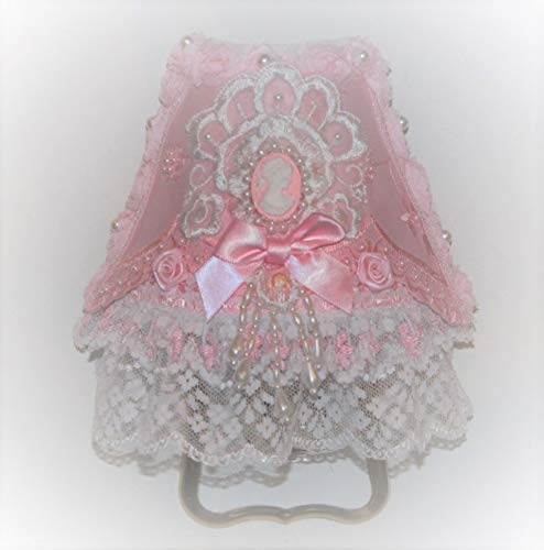 Pink Roses Ruffle Lace Cameo Victorian Elegance Night Light ()