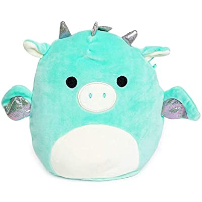 Squishmallow Kellytoy 8 Inch Miles The Dragon (White Ears & Nose) - Super Soft Plush Toy Animal Pillow Pal Pillow Buddy Stuffed Animal Birthday Gift Holiday: Toys & Games
