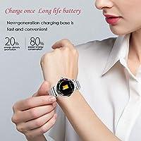 JBAG-one Reloj Inteligente para Mujer Monitor de Ritmo cardíaco ...