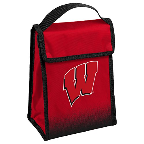NCAA Wisconsin Badgers Velcro Lunch Bag, One Size